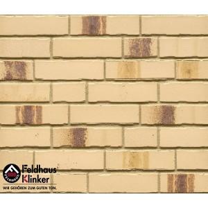 Фасадная клинкерная плитка ручной формовки R970NF14 bacco crema maron, Feldhaus Klinker