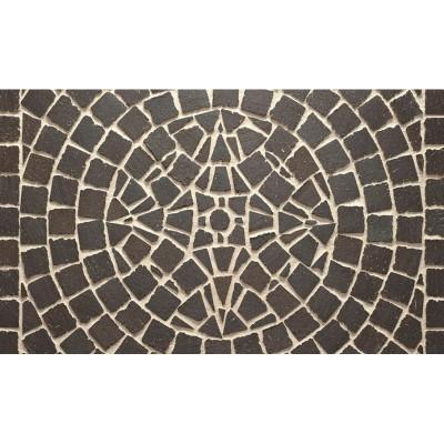 Тротуарная клинкерная мозаика M609DF (делимая на 8 частей 60/60/52) umbra ferrum, Feldhaus Klinker