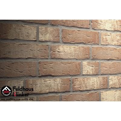 Фасадная клинкерная плитка R677NF14 sintra brizzo blanca, Feldhaus Klinker