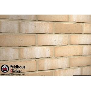 Фасадная клинкерная плитка R730NF14 vascu crema bora, Feldhaus Klinker