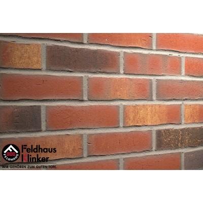 Фасадная клинкерная плитка R744NF14 vascu carmesi legoro, Feldhaus Klinker