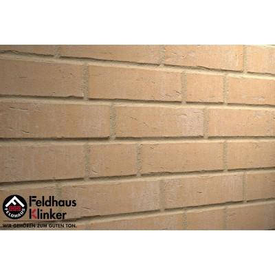 Фасадная клинкерная плитка R762NF14 vascu sabiosa blanca, Feldhaus Klinker
