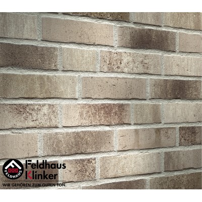 Фасадная клинкерная плитка R773NF14 vascu argo antrablanca, Feldhaus Klinker